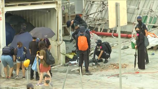 Καταστροφές στις διαδηλώσεις στο Χονγκ Κονγκ