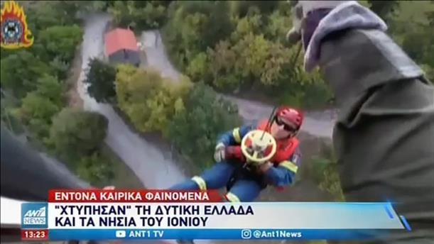 Καταστροφές από την κακοκαιρία στη δυτική Ελλάδα