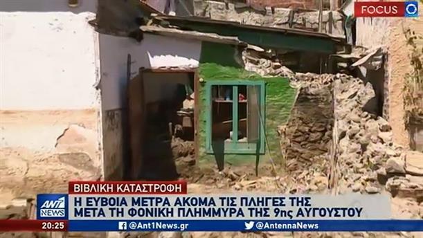 """Οδοιπορικό του ΑΝΤ1 στην Εύβοια: τεράστιες """"πληγές"""" άφησαν οι πλημμύρες"""