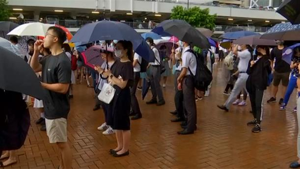 Ανθρώπινη αλυσίδα από μαθητές στο Χονγκ Κονγκ