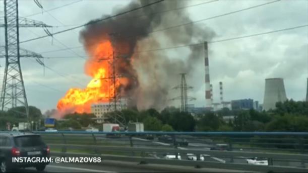 Μεγάλη φωτιά σε θερμοηλεκτρικό εργοστάσιο στην Ρωσία