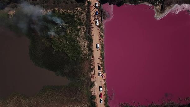 Μόλυνση άλλαξε το χρώμα λίμνης