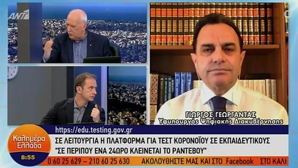 Γιώργος Γεωργαντάς - υφυπουργός Ψηφιακής Διακυβέρνησης – ΚΑΛΗΜΕΡΑ ΕΛΛΑΔΑ - 08/01/2021