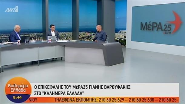 Γιάνης Βαρουφάκης – ΚΑΛΗΜΕΡΑ ΕΛΛΑΔΑ – 25/06/2019