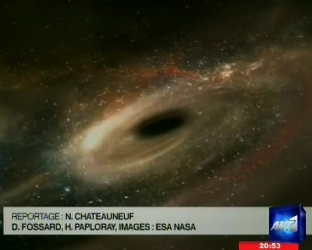 Μαύρη τρύπα καταπίνει άστρο