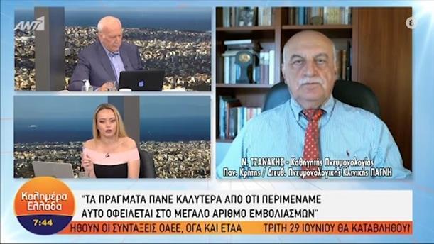 Ν. Τζανάκης - καθηγητής Πνευμονολογίας – ΚΑΛΗΜΕΡΑ ΕΛΛΑΔΑ - 14/06/2021