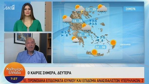ΚΑΙΡΟΣ – ΚΑΛΗΜΕΡΑ ΕΛΛΑΔΑ - 24/06/2019