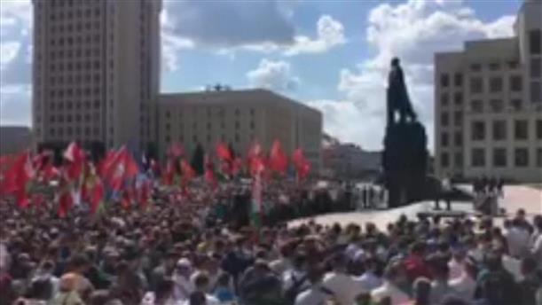 Συγκέντρωση υπέρ του Λουκασένκο στη Λευκορωσία