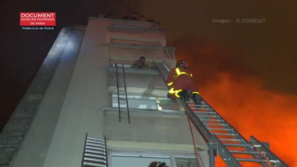 Πυρκαγιά σε πολυόροφη πολυκατοικία στο Παρίσι