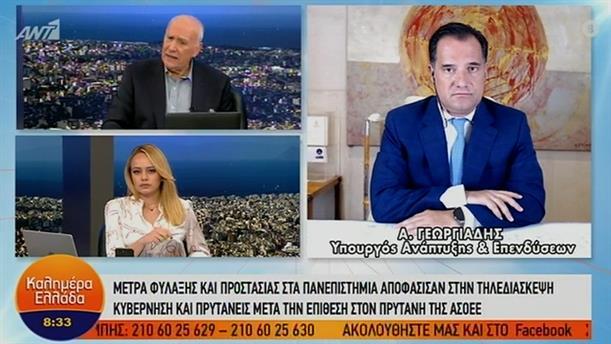 Άδωνις Γεωργιάδης - Υπουργός Ανάπτυξης και Επενδύσεων – ΚΑΛΗΜΕΡΑ ΕΛΛΑΔΑ – 03/11/2020