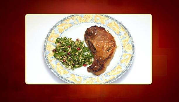 Γλυκόξινες χοιρινές μπριζόλες και σαλάτα ταμπουλέ του Νίκου - Κυρίως Πιάτο - Επεισόδιο 37