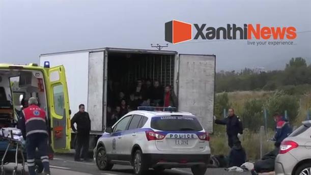 Δεκάδες μετανάστες σε κοντέινερ στην Ξάνθη κόντεψαν να πάθουν ασφυξία
