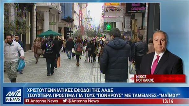 Μπαράζ ελέγχων για φοροδιαφυγή στην Χριστουγεννιάτικη αγορά