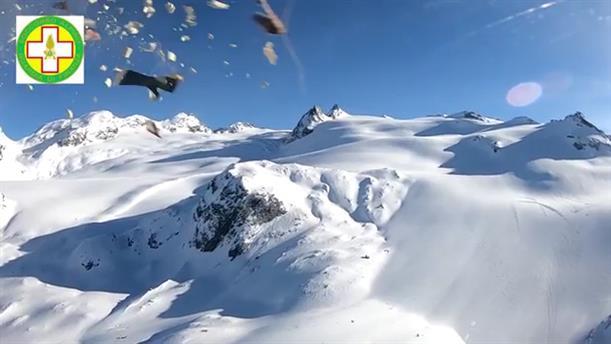 Σύγκρουση αεροπλάνου με ελικόπτερο στις Άλπεις