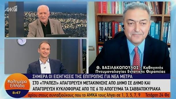 Θ. Βασιλακόπουλος - Καθ. Πνευμονολογίας – ΚΑΛΗΜΕΡΑ ΕΛΛΑΔΑ - 05/02/2021