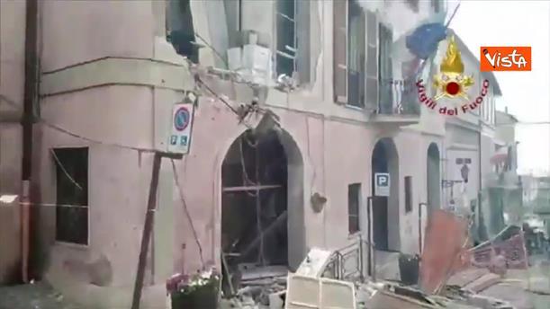 Εικόνες απο το κτήριο, όπου σημειώθηκε η έκρηξη, στην Ρώμη
