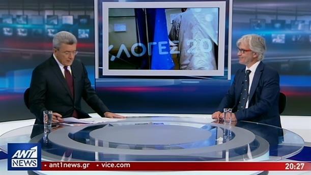 Ο Νίκος Βλαχάκος στο κεντρικό δελτίο ειδήσεων του ΑΝΤ1
