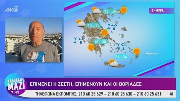 Καιρός - ΚΑΛΟΚΑΙΡΙ ΜΑΖΙ - 21/08/2019