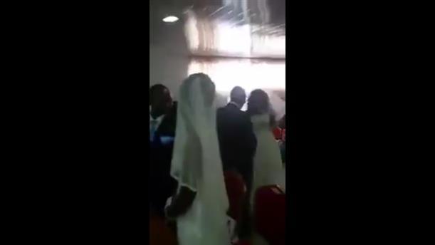 Εμφανίστηκε η ερωμένη στο γάμο του, φορώντας νυφικό