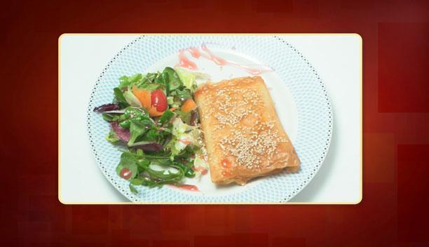 Φέτα με φύλλο κρούστας, μέλι και σουσάμι της Βασιλικής - Ορεκτικό - Επεισόδιο 60