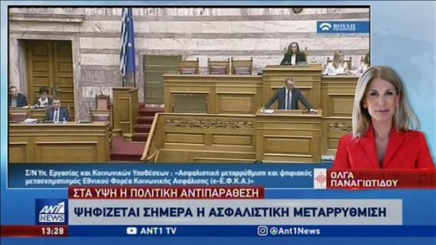 «Μετωπική» στην Βουλή για το Ασφαλιστικό νομοσχέδιο