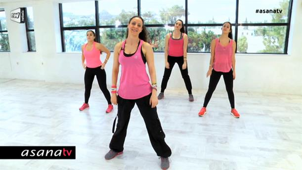 Zumba Dance για καλογυμνασμένους κοιλιακούς (επίπεδο αρχαρίων)