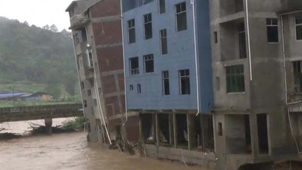 Πλημμύρες στην Κίνα προκάλεσαν μεγάλες καταστροφές