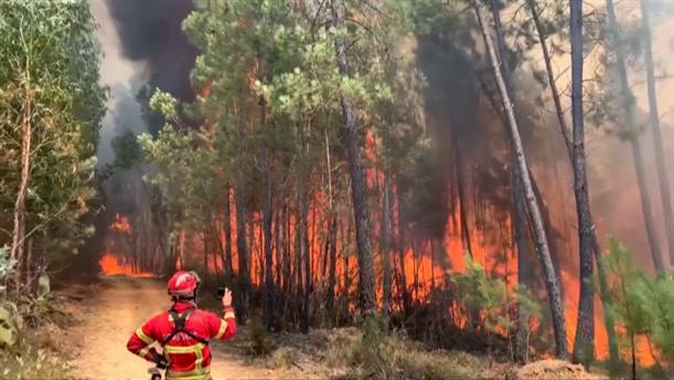 Οι δυνατοί άνεμοι αναζωπυρώνουν τις φωτιές στην Πορτογαλία