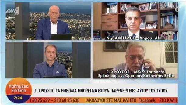 Ο Γεώργιος Χρούσος στην εκπομπή «Καλημέρα Ελλάδα»