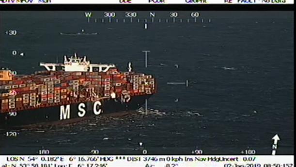 Φορτίο με επικίνδυνα χημικά  έπεσε από φορτηγό πλοίο στη Βόρεια Θάλασσα