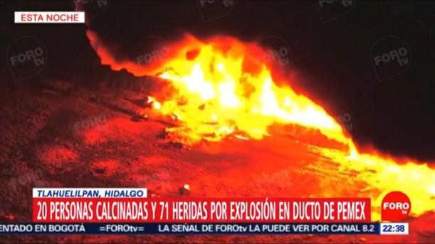 Εναέρια πλάνα από την έκρηξη σε αγωγό καυσίμων στο Μεξικό