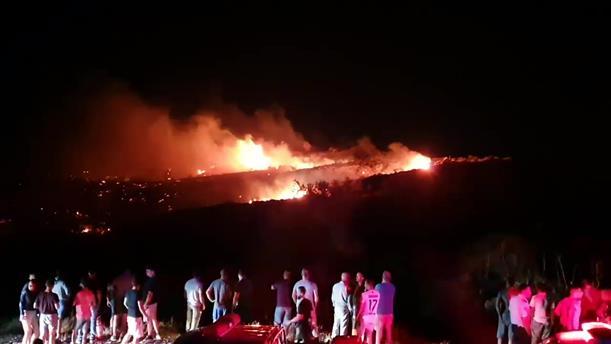 Έκρηξη και φωτιά στα Κατεχόμενα