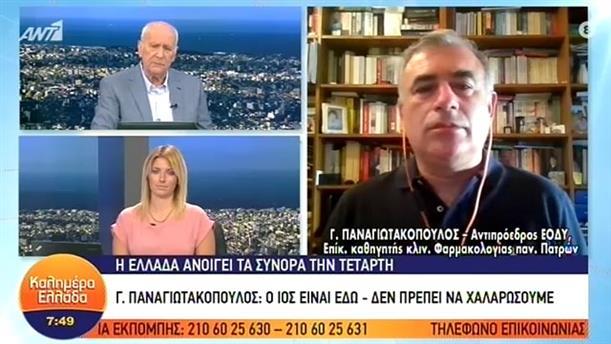 Γ. Παναγιωτακόπουλος (Αντιπρόεδρος ΕΟΔΥ) – ΚΑΛΗΜΕΡΑ ΕΛΛΑΔΑ – 29/06/2020