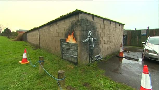 Αυτό είναι το νέο έργο του Banksy