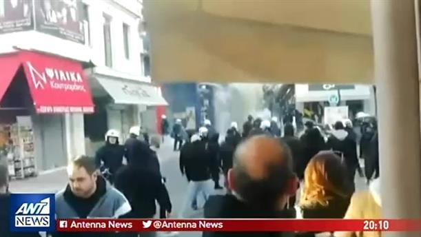 Επεισόδια, δακρυγόνα και καταστροφές στο Αγρίνιο πριν το ματς με τον ΠΑΟΚ