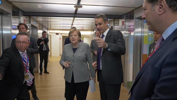 Επαφές  Μητσοτάκη με Ευρωπαίους ηγέτες, στις Βρυξέλλες