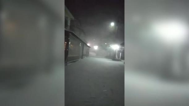 Λάρισα: Στα λευκά η Σπηλιά του Κισσάβου