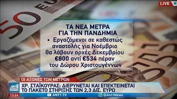 Lockdown: επίδομα 800 ευρώ για αναστολή σύμβασης τον Νοέμβριο