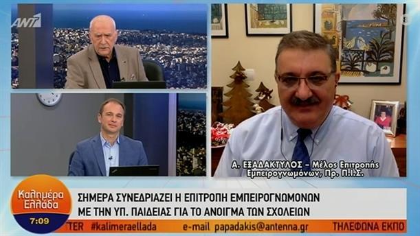 Αθανάσιος Εξαδάκτυλος - Πρόεδρος του ΠΙΣ – ΚΑΛΗΜΕΡΑ ΕΛΛΑΔΑ – 04/01/2021