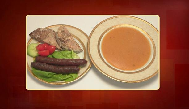 Σούπα τραχανά με σουτζίκια και καβουρμά του Γιώργου - Ορεκτικό - Επεισόδιο 58