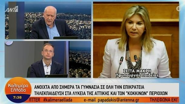Ζέττα Μακρή - υφυπουργός Παιδείας – ΚΑΛΗΜΕΡΑ ΕΛΛΑΔΑ - 01/02/2021