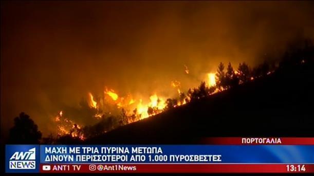 Στο έλεος του καύσωνα Ευρώπη και ΗΠΑ – Μεγάλες φωτιές στην Πορτογαλία