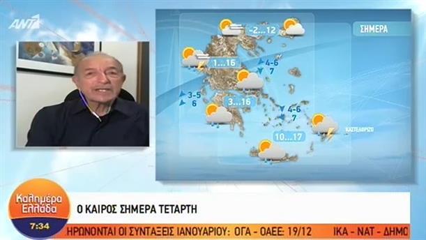 ΚΑΙΡΟΣ – ΚΑΛΗΜΕΡΑ ΕΛΛΑΔΑ - 05/12/2018