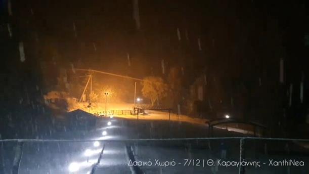 Ξάνθη: Χιόνισε στο Δασικό Χωριό