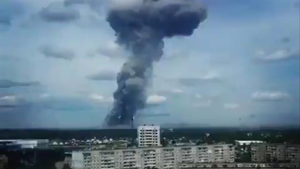 Εκρήξεις σε εργοστάσιο παραγωγής εκρηκτικών στην πόλη Ντζερζίνσκ της Ρωσίας