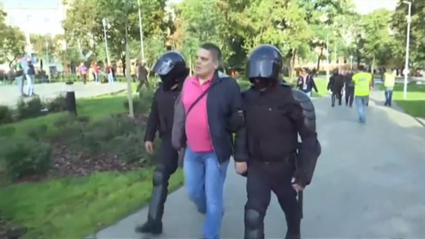 Δεκάδες συλλήψεις στις διαδηλώσεις στη Ρωσία