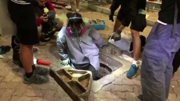 Από τούνελ «δραπετεύουν» από το Πολυτεχνείο του Χονγκ Κονγκ