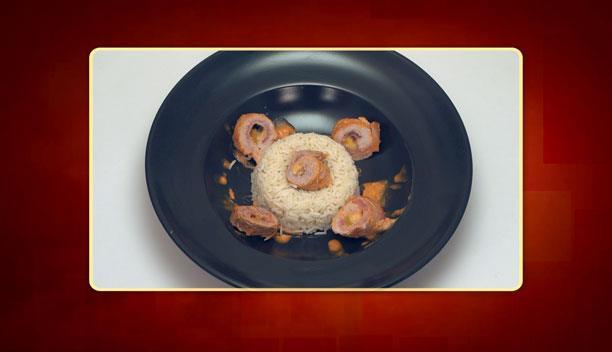 Ρολό χοιρινό με ρύζι του Βαγγέλη - Κυρίως Πιάτο - Επεισόδιο 35