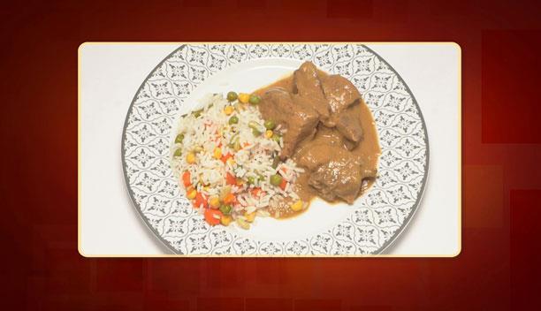 Ρόστο με πολύχρωμο ρύζι του Γιώργου - κυρίως πιάτο - Επεισόδιο 62