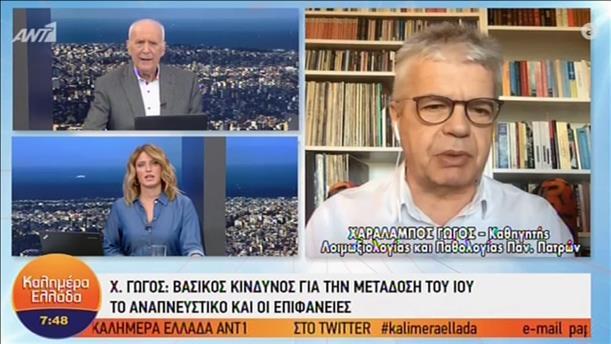 Ο Χαράλαμπος Γώγος στην εκπομπή «Καλημέρα Ελλάδα»